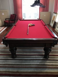 red and brown pool table Pompano Beach, 33062