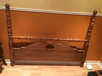 brown wooden headboard and footboard Laval, H7X 2P8