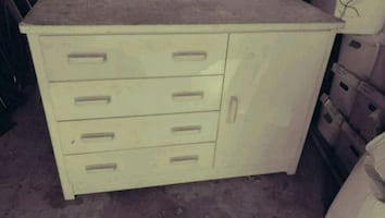 Chest of drawers with cabinet with hanging rod