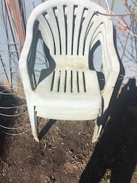 white wooden framed white padded armchair North Cowichan, V9L 4A2