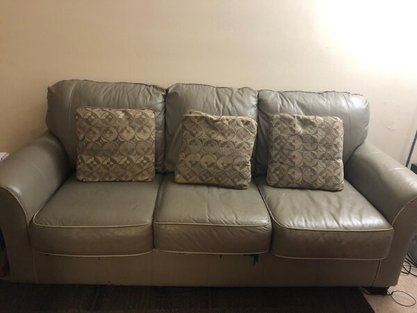 Urgent moving sale : Sofa, love seat and living room table