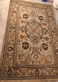 brown and white floral area rug Fairfax, 22030