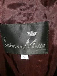 made in italy by mimmo motta leather lined with fur womans coat size L Charleston, 29407