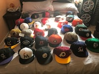 assorted-color fitted cap lot Long Beach, 90805