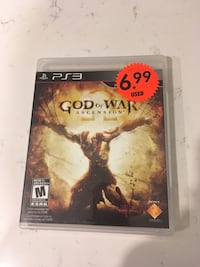 God of War Ascension PS3 game