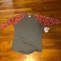 LuLaRoe XL Gray Randy with Floral Colorblocked Sleeves (Brand New with Tags!) New Windsor, 21776