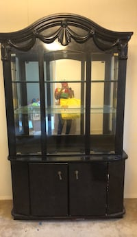 black wooden framed glass display cabinet Washington, 20002