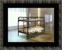 Twin bunk bed frame with mattress Lothian, 20711