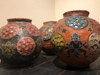 Three Indian brown-and-red vases Arlington, 22203