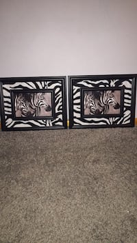 two black and white wooden wall decors Fort Wayne, 46806