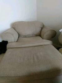 white fabric sofa chair with ottoman Falls Church, 22042