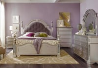 white wooden bed frame with mattress Stafford, 77477