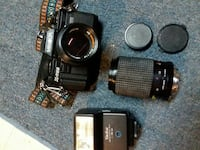 X-700 camera with flash and lenses