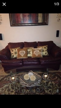 3 seater leather couch with 5 cushions Denver