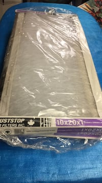 3 new 10x20x1 duststop home furnace air filters Mississauga, L5L 1G3