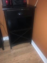 black wooden 2-drawer nightstand Falls Church, 22041
