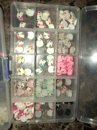 assorted Hello Kitty buttons in plastic organizer San Jose, 95117