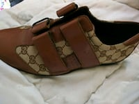 New brown mens Gucci leather shoes