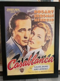 Collectors framed Casablanca picture Baltimore, 21237