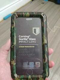 Camo metal gorilla glass iphone 6 case