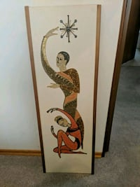 man and woman dancing art for the wall