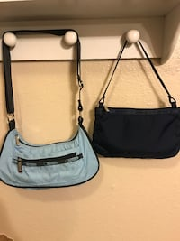 two gray and black leather crossbody bags Elk Grove, 95624