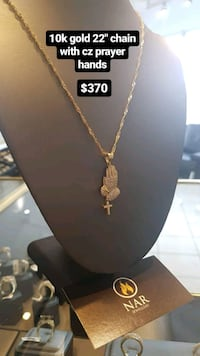"10k real gold  22"" Singapore chain with cz pendant Toronto, M1K 1N8"