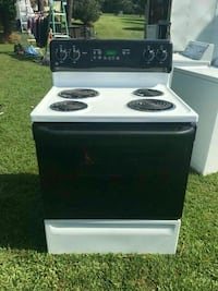 white and black 4-burner coil range Richmond, 23223