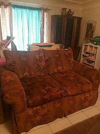 brown and pink floral loveseat Socorro, 79927