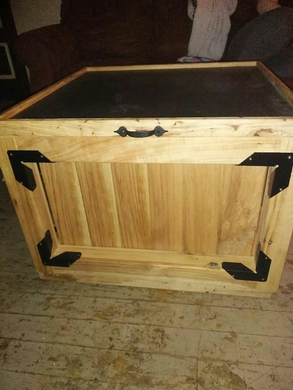 Nice Wood Table Toy Box Outside