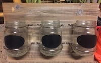 Mason jar holders storage containers for kitchen or garage kids room wall decor
