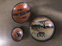 3 African soapstone dishes  Arlington, 22209
