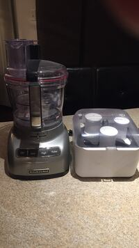 KITCHEN AID silver 14 cup food processor