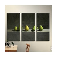 Five Pears 3 Piece Photographic Print on Wrapped Canvas Set  Washington, 20001