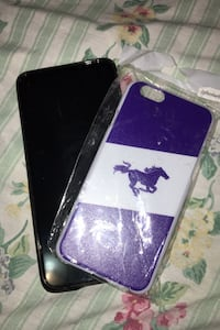 Iphone6/6s purple mustang cell phone clip on back sleeve