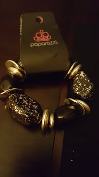 black and stainless steel Paparazzi bracelet