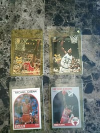 four Michael Jordan trading cards Los Angeles, 91335