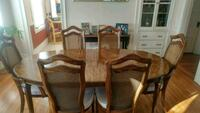brown wooden dining table set Peabody, 01960