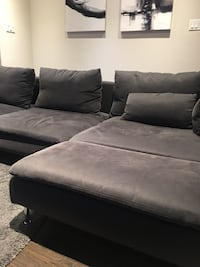 gray suede sectional sofa with ottoman Vaughan, L6A 4H6