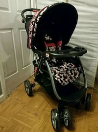baby's black and gray stroller 56 km