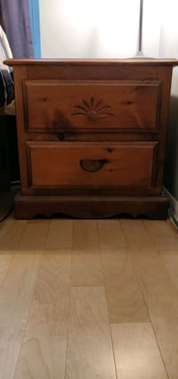 Solid wood bedside night stand Toronto, M5V