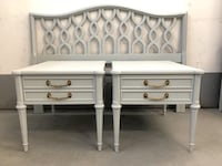 French Provincial Headboard & 2 Nightstands/End Tables Edmonton, T5M 1C2