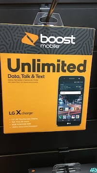 Boost Mobile LG X Charge smartphone box