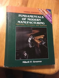 Fundamentals of Modern Manufacturing: Materials, Processes, and Systems Waterloo