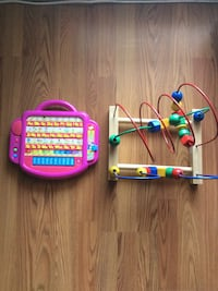 brown and red wire maze; purple alphabet musical toy Germantown, 20874