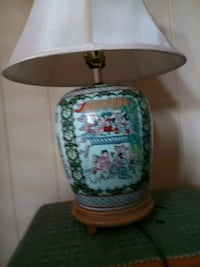 white and green floral table lamp Honolulu, 96819