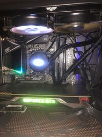 Gaming computer liquid cooled 9700k gtx1080 founders edition rgb