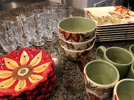 Beautiful pier one dishes set