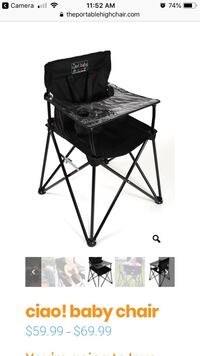 Ciao! baby portable high chair camping New Tecumseth, L0G 1W0
