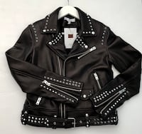 New designer unique small black leather motorcycle studded jacket  Los Angeles, 90272